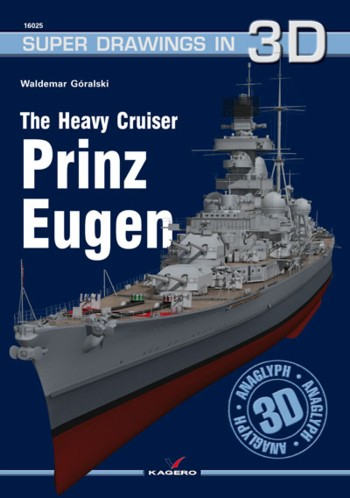 Kagero Super Drawings in 3D 16025: The Heavy Cruiser Prinz Eugen.
