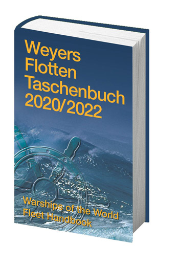 "Weyers Flottentaschenbuch 2020/2022. Warships of the World Fleet Handbook. <font color=""#FF0000"" face=""Arial, Helvetica, sans-serif"">Expected to arrive mid/end of December 2020!</font>"