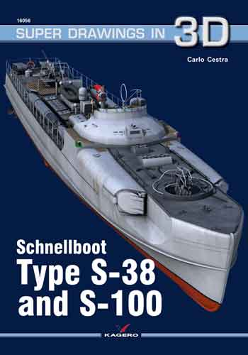 Kagero Super Drawings in 3D 16056: Schnellboot Type S-38 and S-100. <font color=&quot;#FF0000&quot; face=&quot;Arial, Helvetica, sans-serif&quot;>Expected to arrive mid of March 2018!</font>
