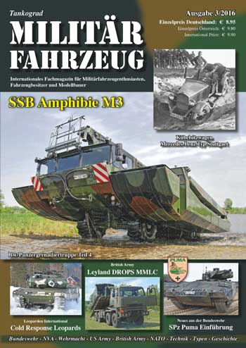 Tankograd Militärfahrzeug 3/2016: SSB Amphibie M3. <font color=&quot;#FF0000&quot; face=&quot;Arial, Helvetica, sans-serif&quot;>Expected to arrive  mid/end of June 2016!</font>