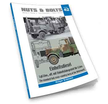 Nuts & Bolts Vol. 42: Einheitsdiesel – l.gl.Lkw., off. mit Einheitsfahrgestell für l.Lkw. – The standard 6x6 cross-ountry lorry of the Wehrmacht. <font color=&quot;#FF0000&quot; face=&quot;Arial, Helvetica, sans-serif&quot;>Expected to arrive beg. of June 2019!</font>