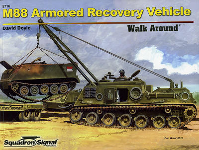 Walk Around No. 5716 (Color Series): M88 Armored Recovery Vehicle