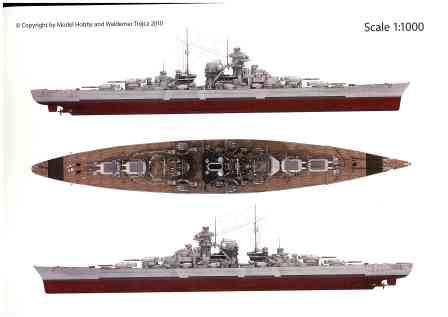 NEU ** Schlachtschiff BISMARCK in COLOR mit 3D Brille